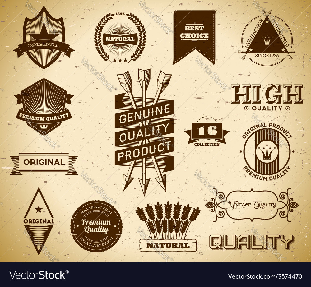 Vintage labels collection 16 vector | Price: 1 Credit (USD $1)