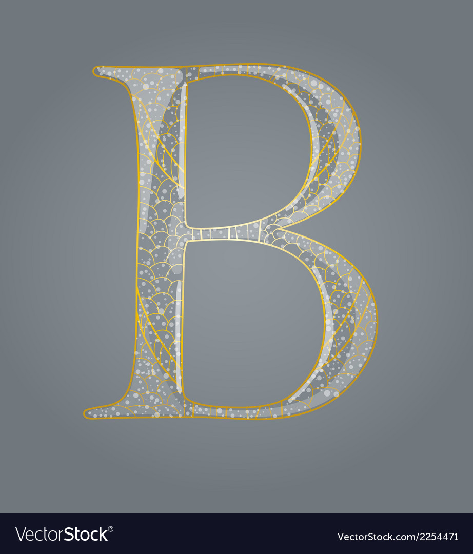 Abstract golden letter b vector | Price: 1 Credit (USD $1)