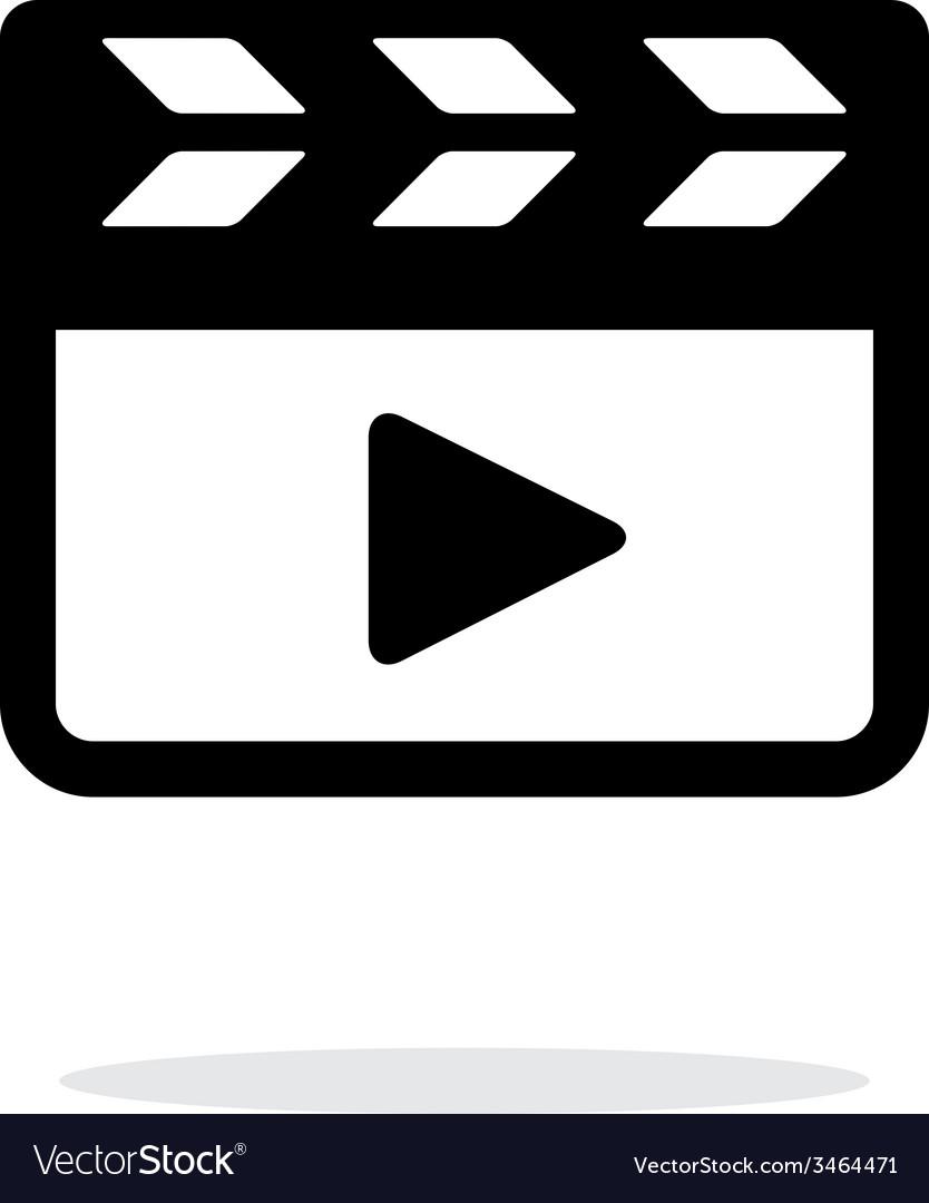Clapper board icon on white background vector | Price: 1 Credit (USD $1)