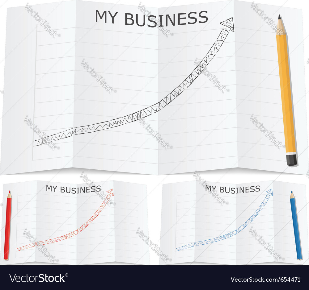 Hand drawn business graph vector | Price: 1 Credit (USD $1)