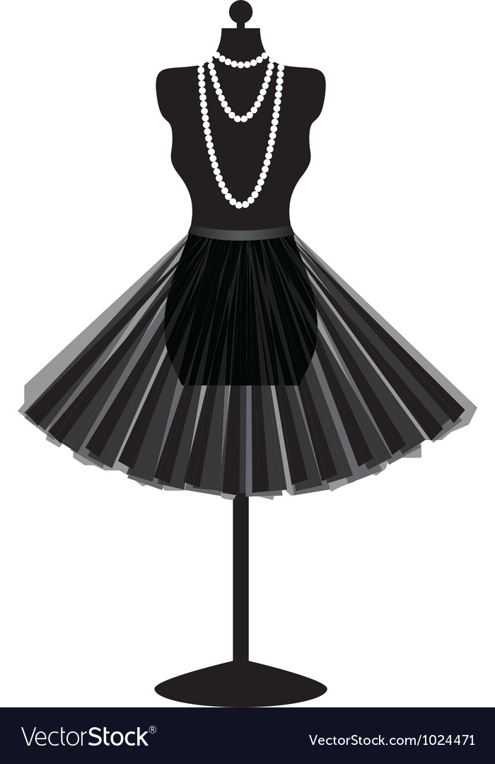 Mannequin with skirt vector | Price: 1 Credit (USD $1)