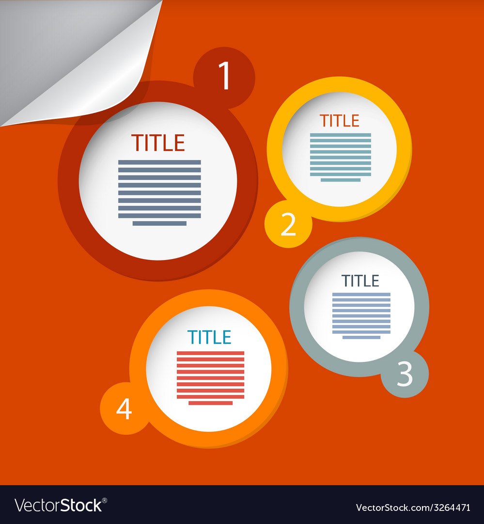 Orange circle paper infographics layout - template vector | Price: 1 Credit (USD $1)