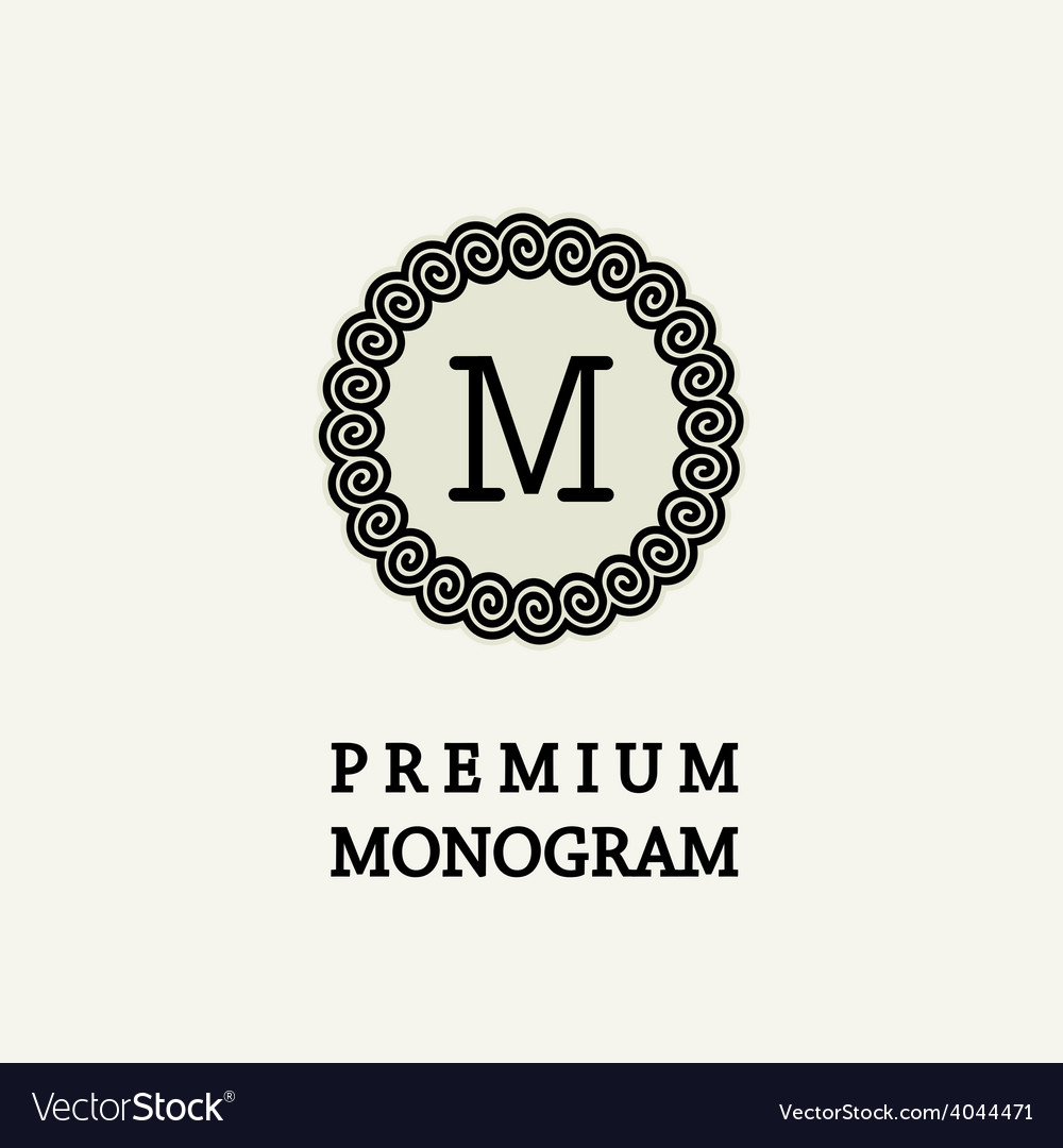 Stylish and graceful floral monogram design vector | Price: 1 Credit (USD $1)