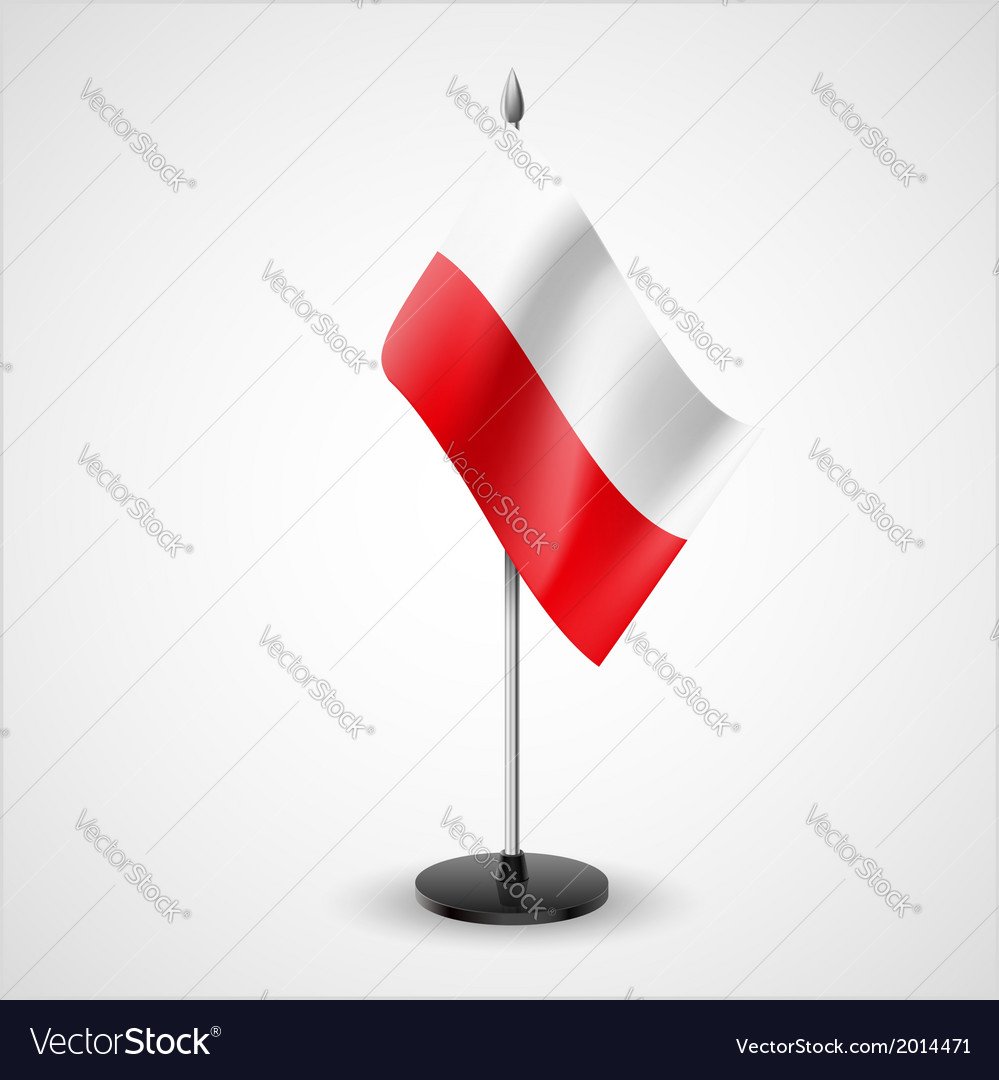 Table flag of poland vector | Price: 1 Credit (USD $1)