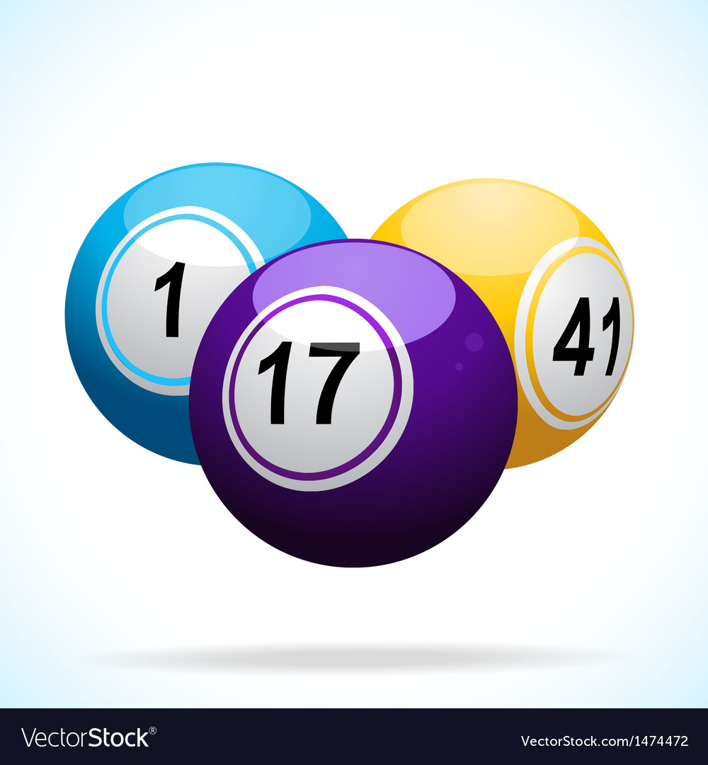 3d bingo balls floating vector | Price: 1 Credit (USD $1)