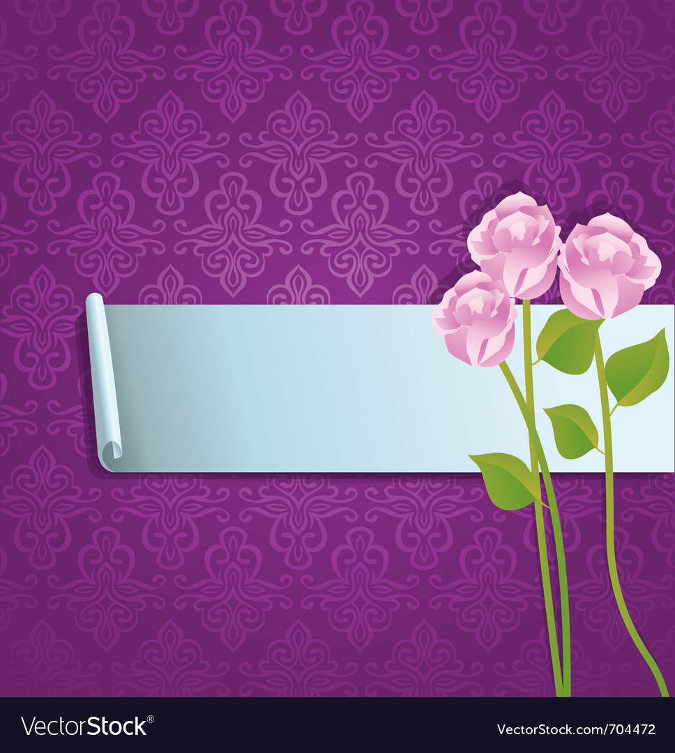 Abstract banner with roses vector | Price: 1 Credit (USD $1)
