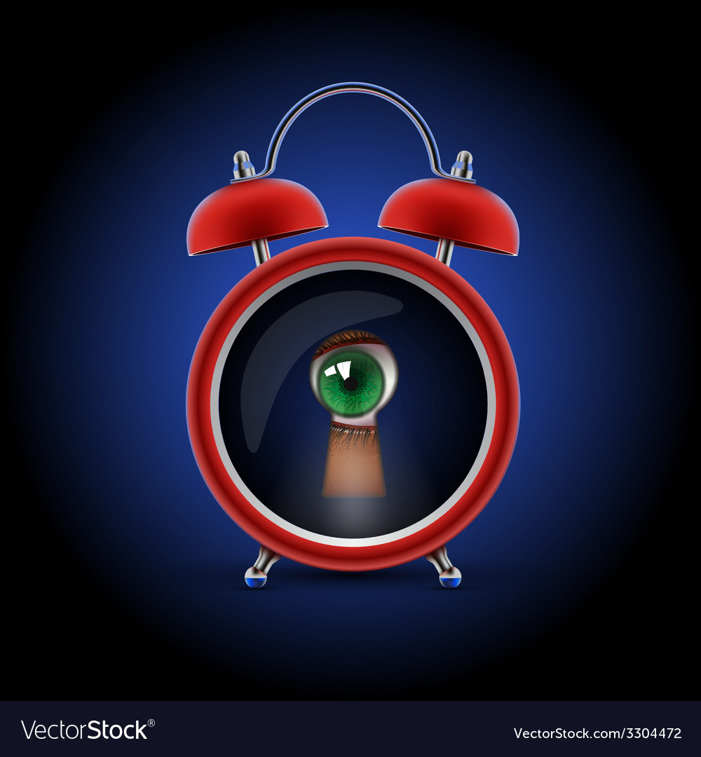 Clock with keyhole eye vector | Price: 1 Credit (USD $1)