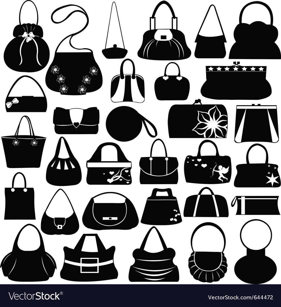 Female purse set vector | Price: 1 Credit (USD $1)
