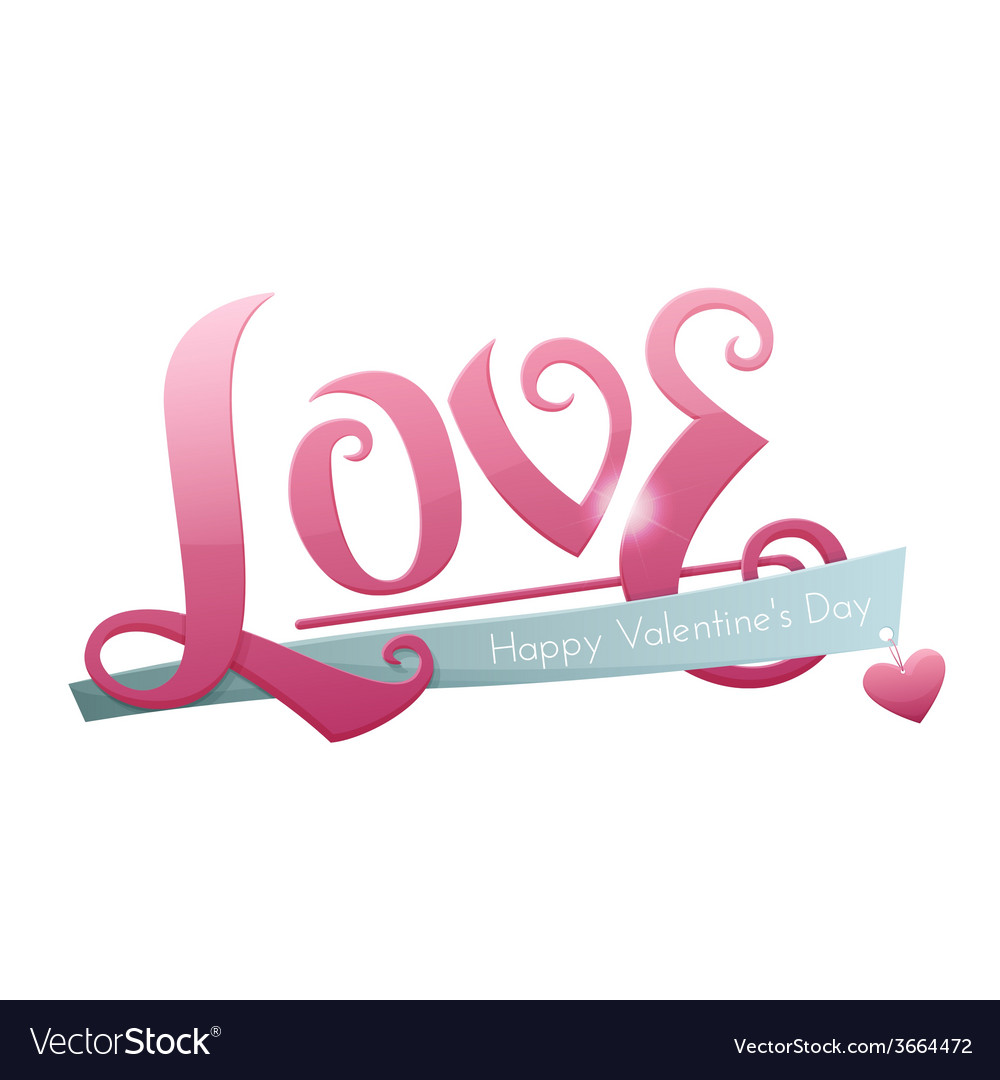 Large inscription love vector | Price: 1 Credit (USD $1)