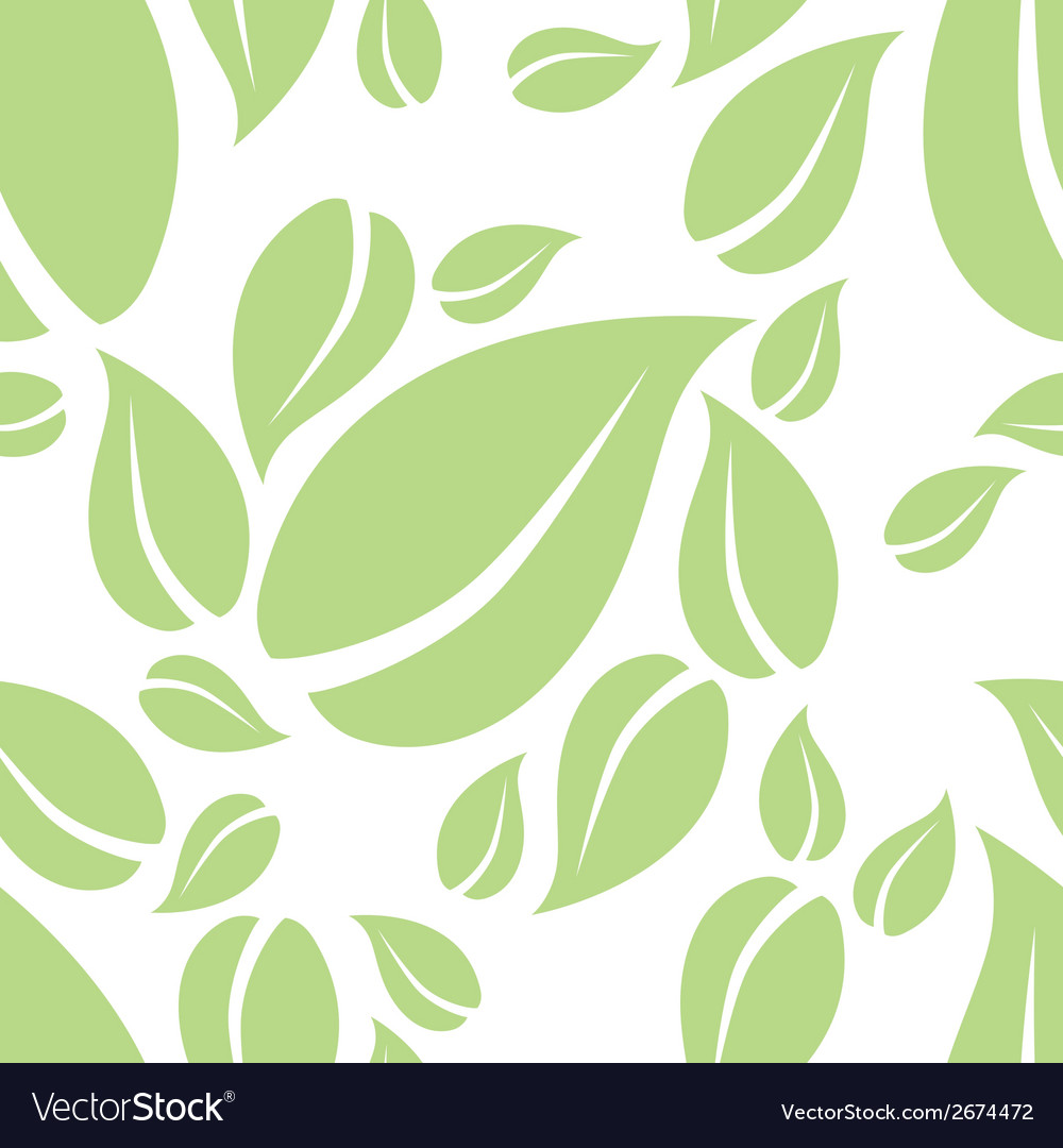 Mint leaf seamless pattern vector | Price: 1 Credit (USD $1)
