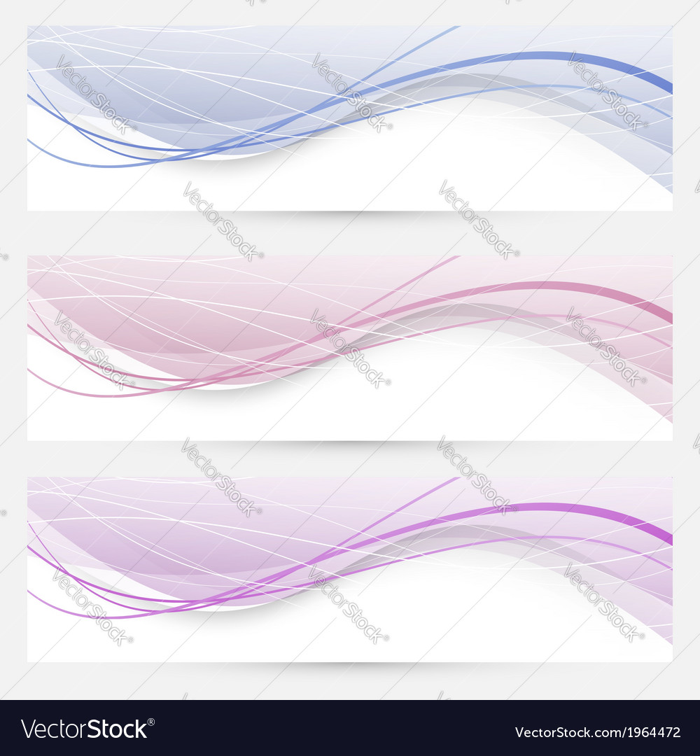 Modern abstract banners or web headers vector | Price: 1 Credit (USD $1)