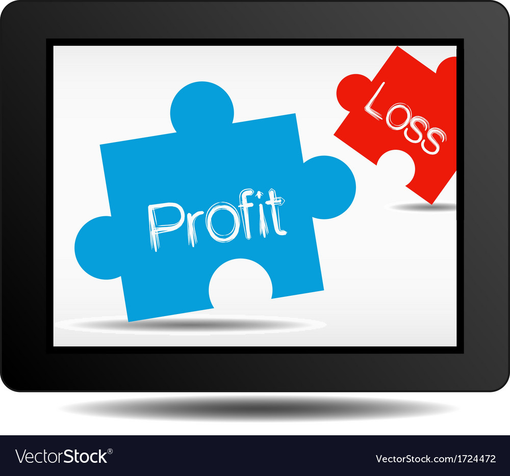 Profit and loss vector | Price: 1 Credit (USD $1)