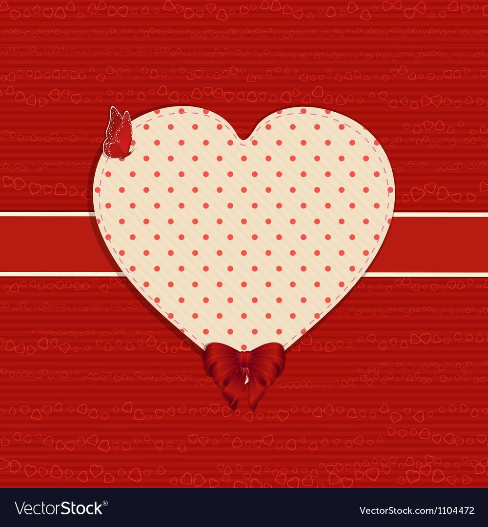 Valentine heart label background vector   Price: 1 Credit (USD $1)