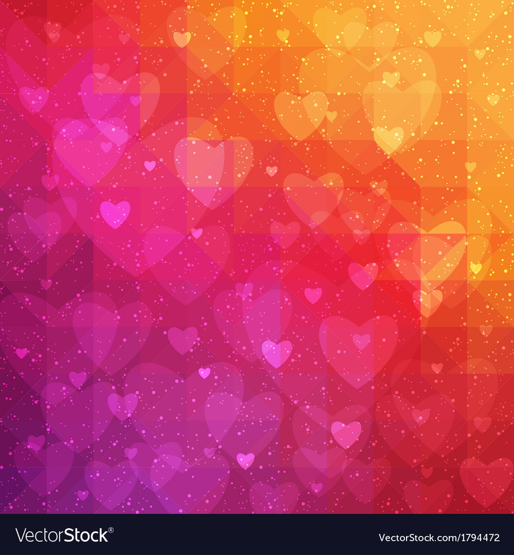 Valentines day background with triangle texture vector | Price: 1 Credit (USD $1)