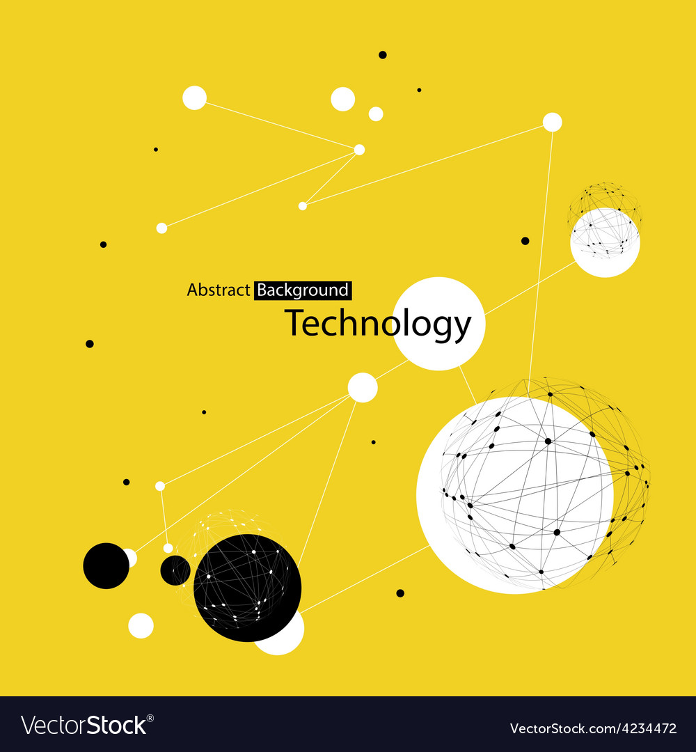 Yellow technology background vector | Price: 1 Credit (USD $1)