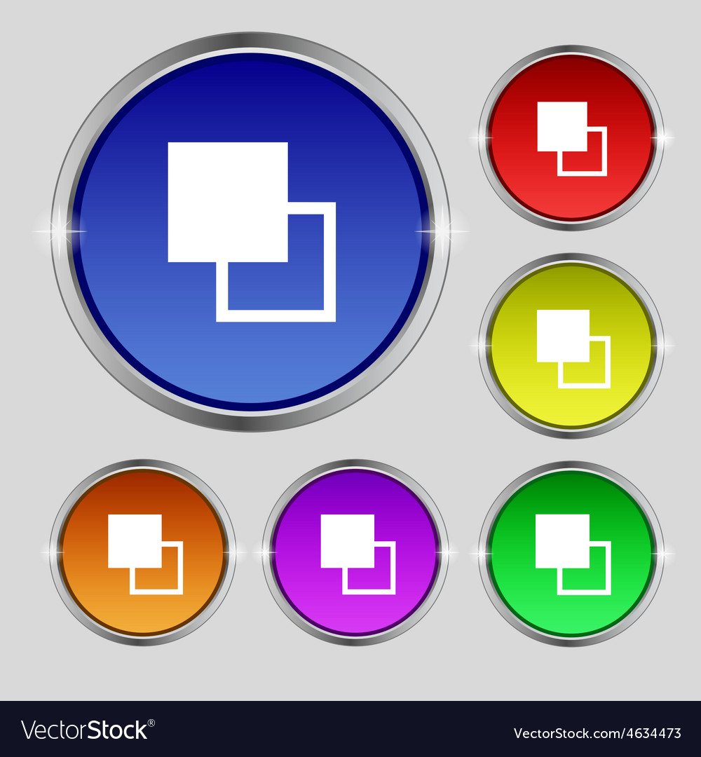 Active color toolbar icon sign round symbol on vector | Price: 1 Credit (USD $1)