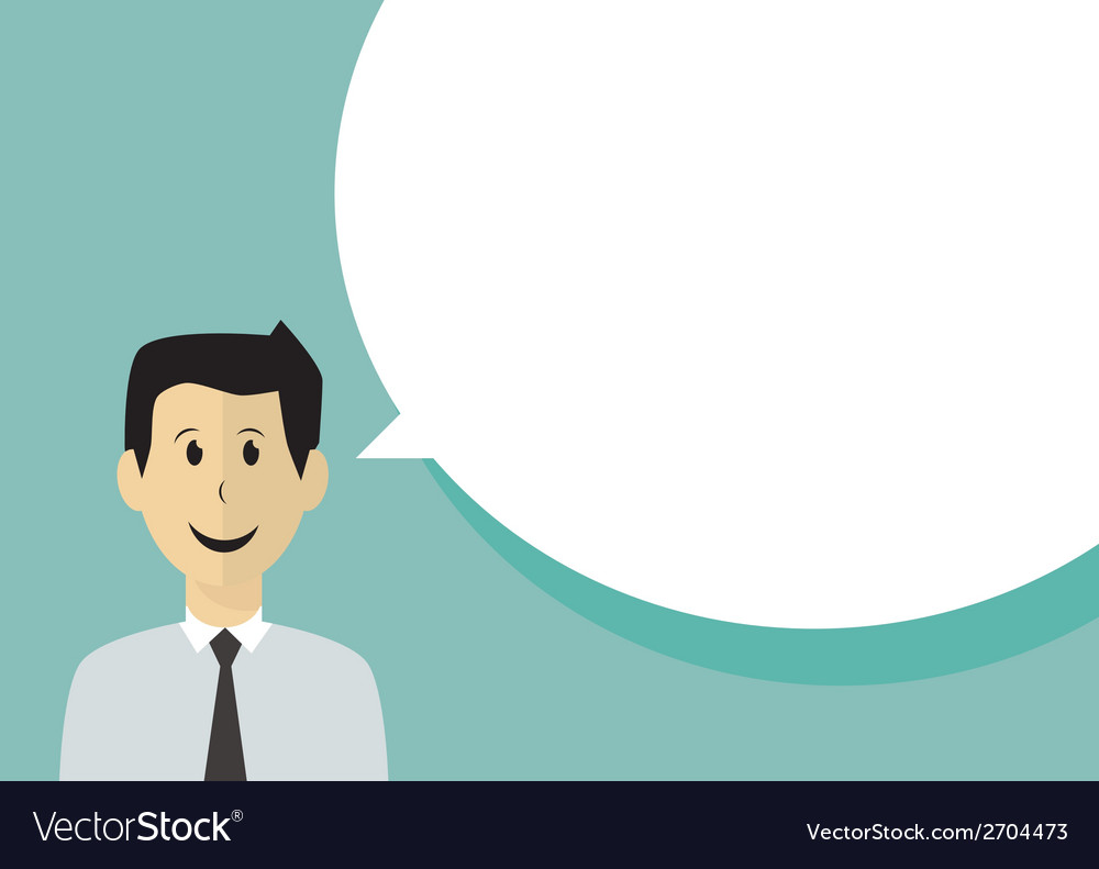 Businessman with speech bubble vector | Price: 1 Credit (USD $1)