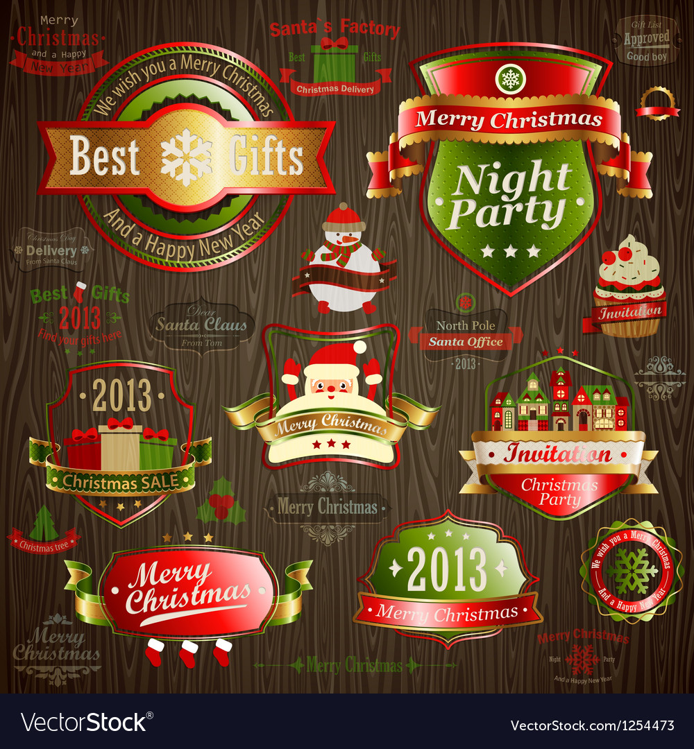 Christmas vintage vector | Price: 3 Credit (USD $3)