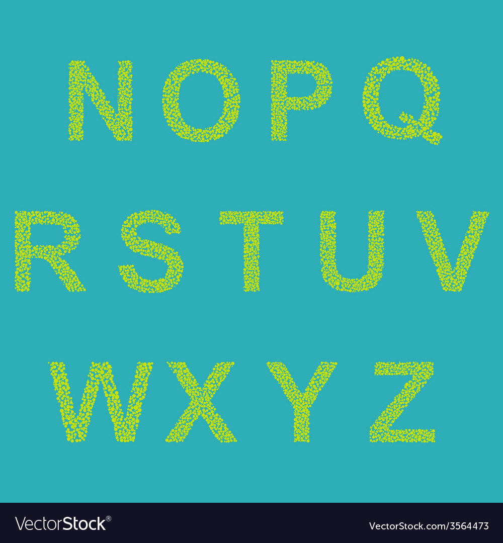 Retro type font vector | Price: 1 Credit (USD $1)