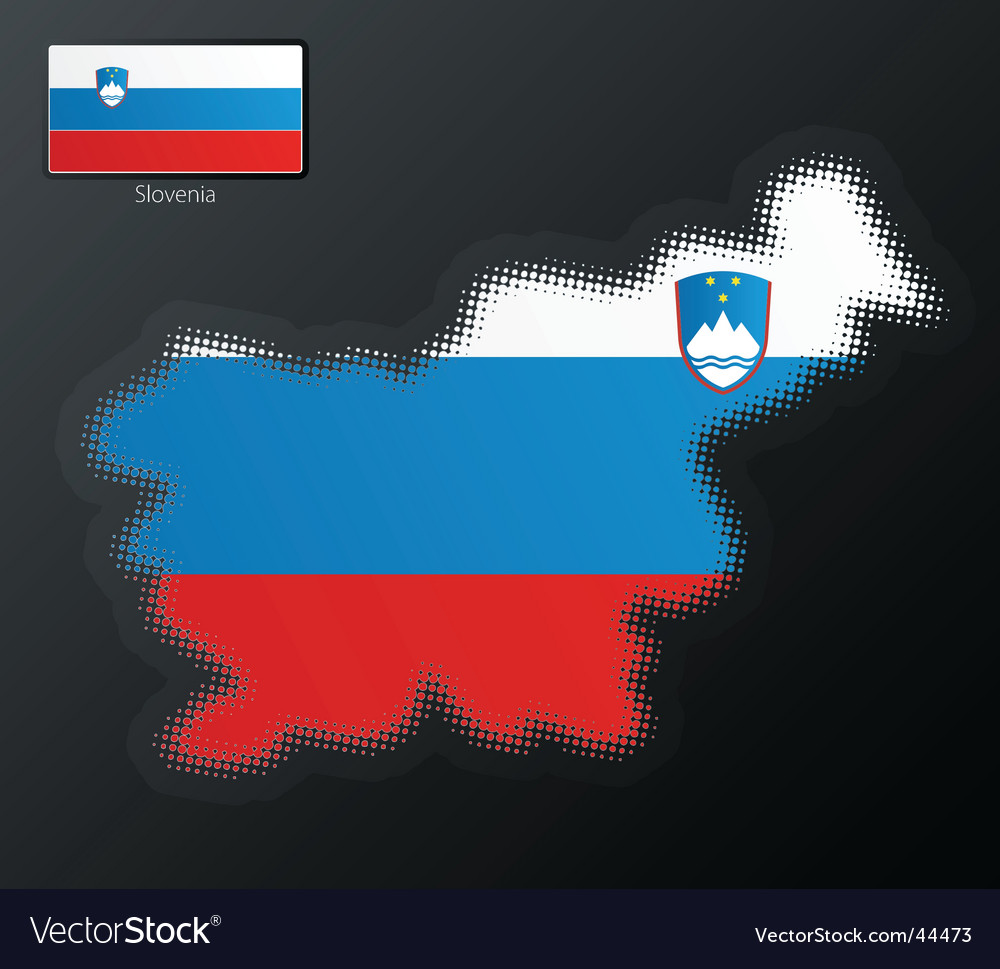 Slovenia map vector | Price: 1 Credit (USD $1)