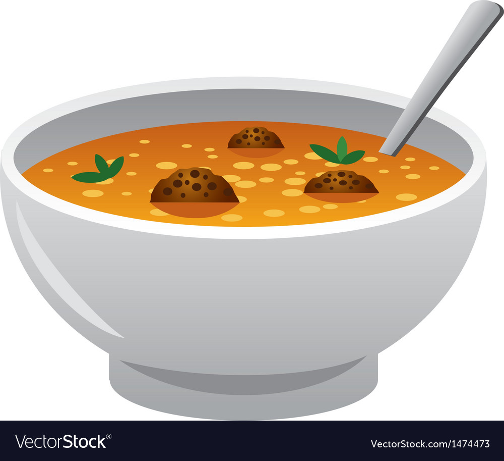 Soup with meatballs vector | Price: 1 Credit (USD $1)