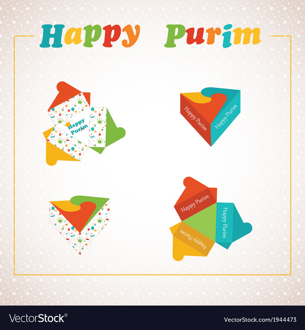 Template of a purim box for purim gift vector | Price: 1 Credit (USD $1)
