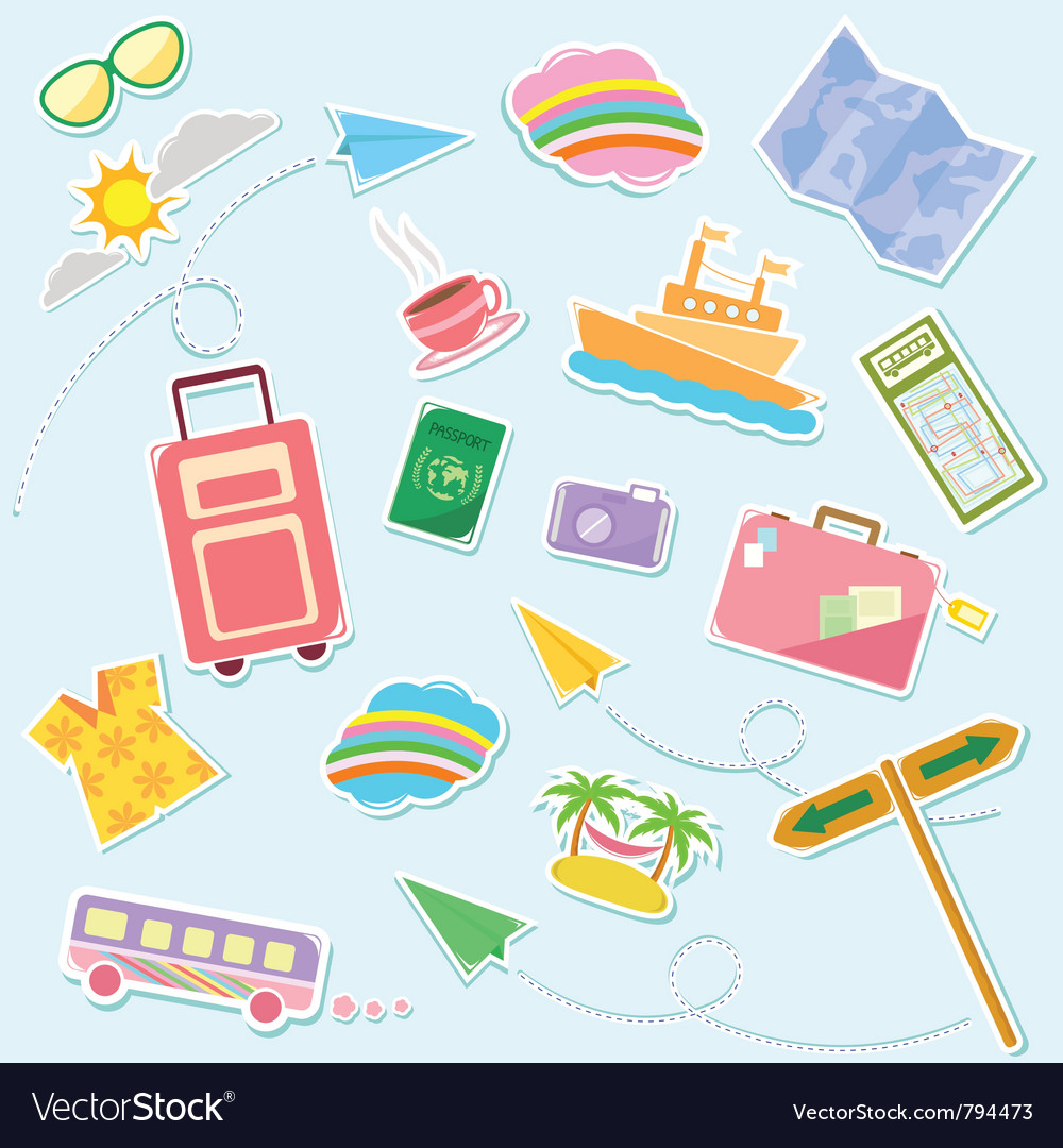 Travel symbols vector | Price: 1 Credit (USD $1)