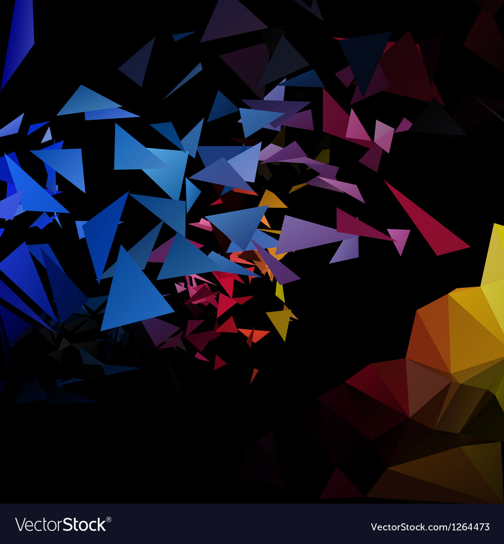 Triangles explosion background poligonal-art vector | Price: 1 Credit (USD $1)