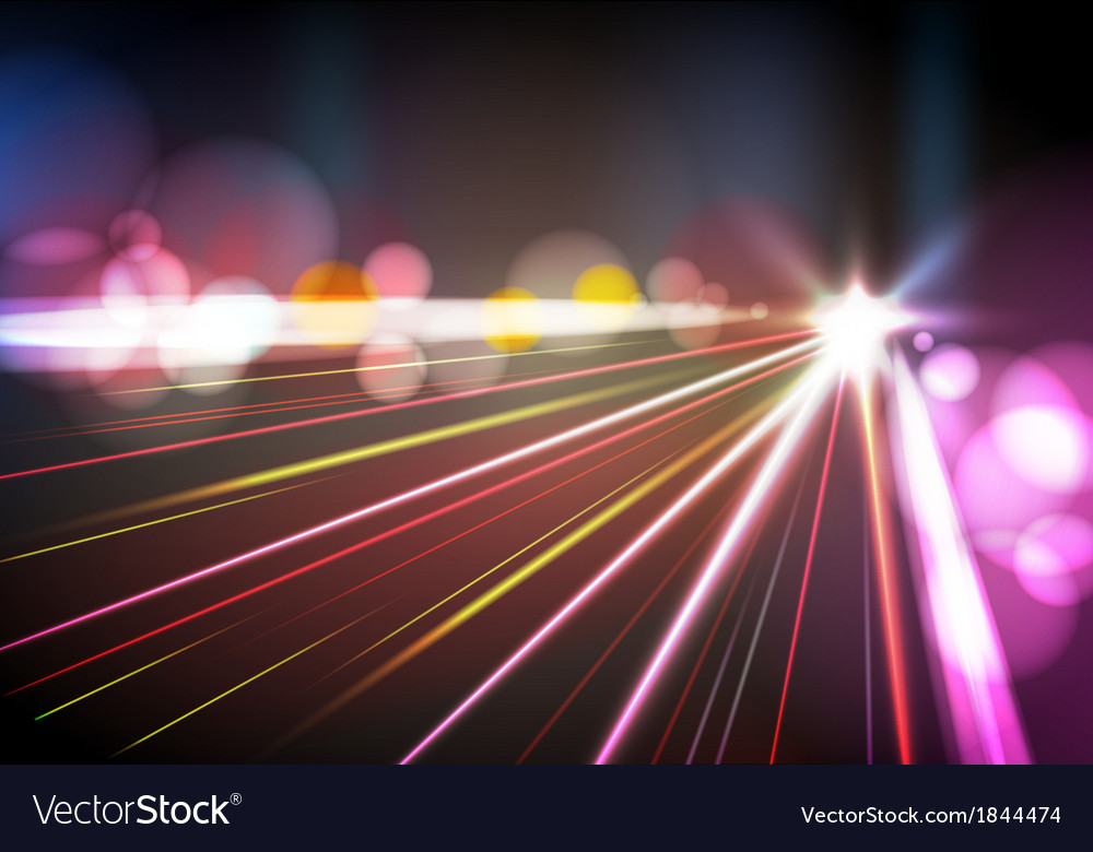 Abstract night city vector