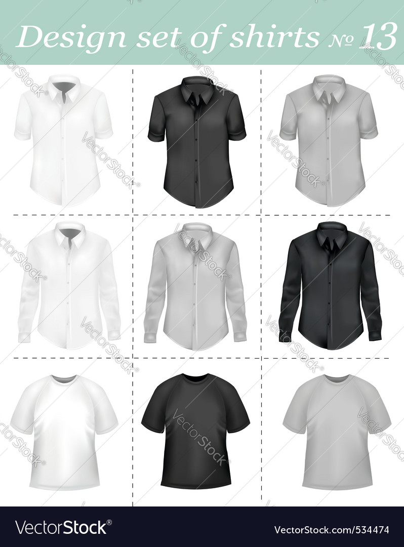 Black and white men polo shirt vector | Price: 3 Credit (USD $3)