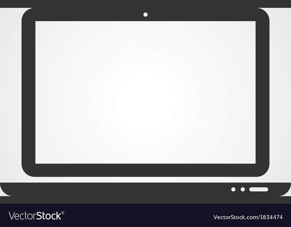 Laptop web icon flat design vector | Price: 1 Credit (USD $1)