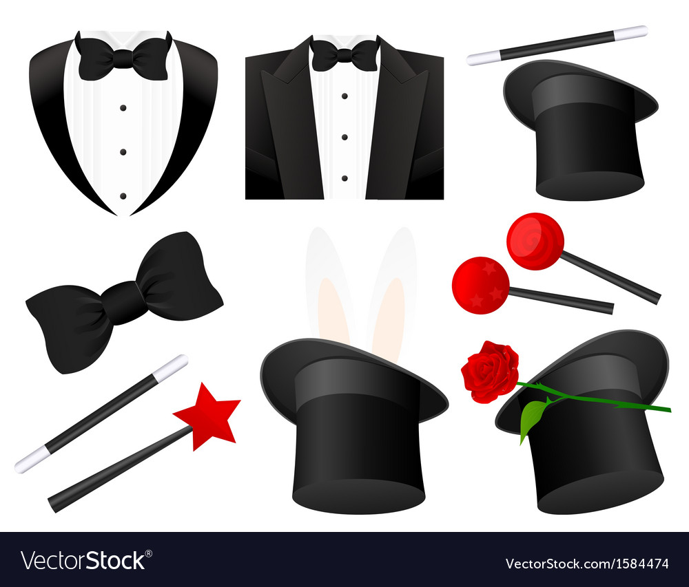 Magician icons vector | Price: 1 Credit (USD $1)