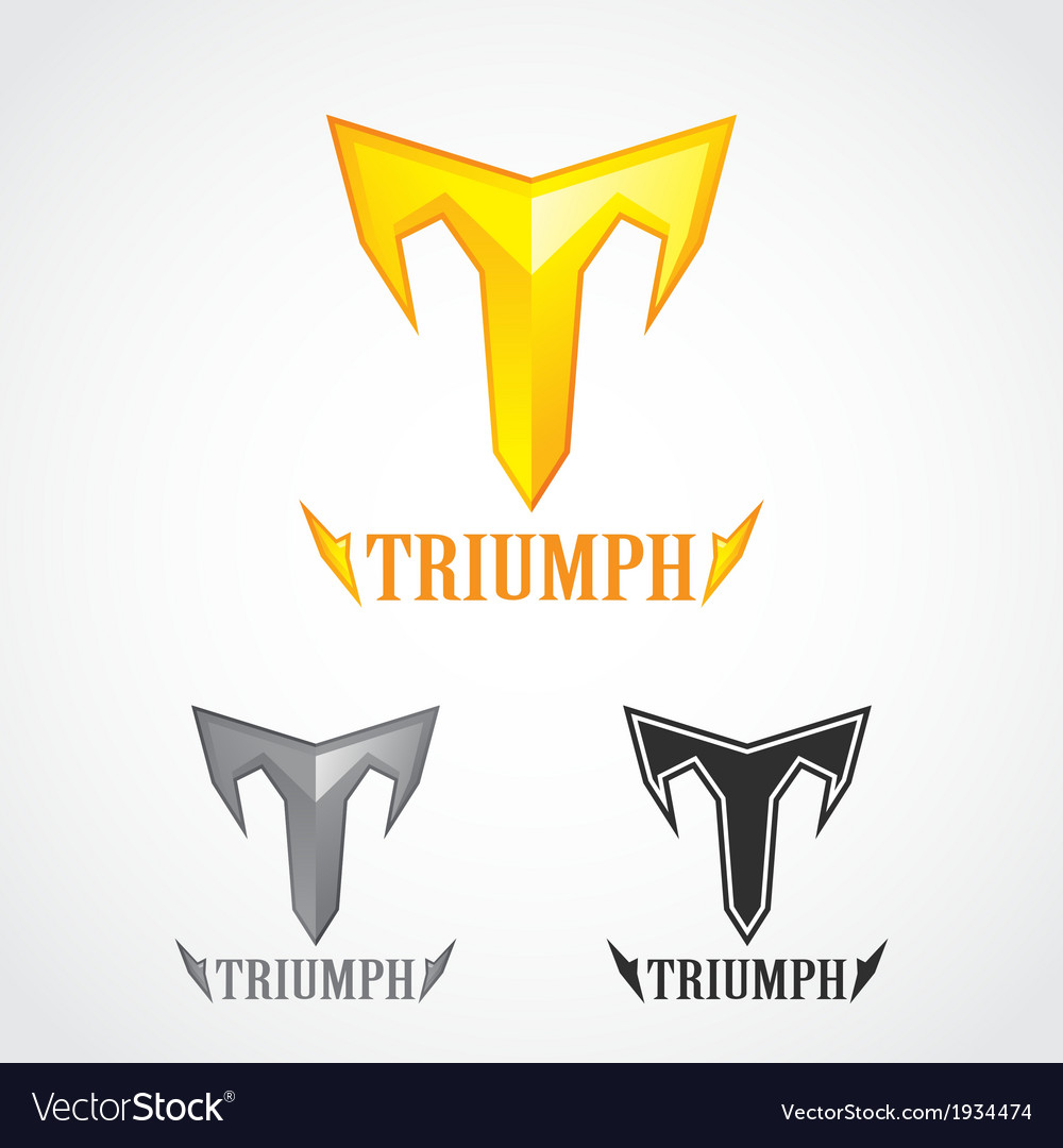 Triumph gold symbol vector | Price: 1 Credit (USD $1)