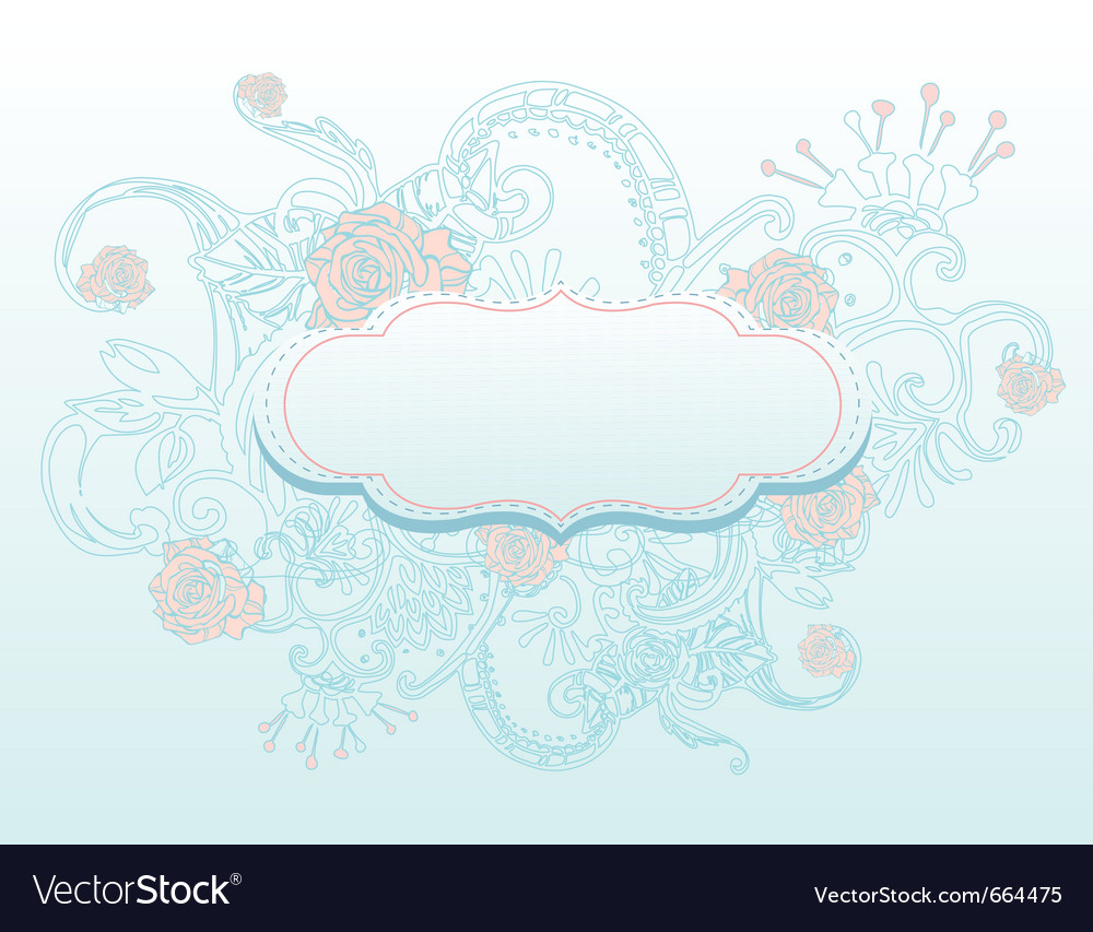 Abstract romantic background vector | Price: 1 Credit (USD $1)