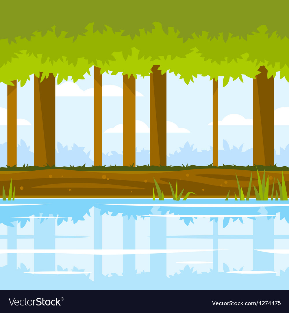 Forest game background vector | Price: 3 Credit (USD $3)