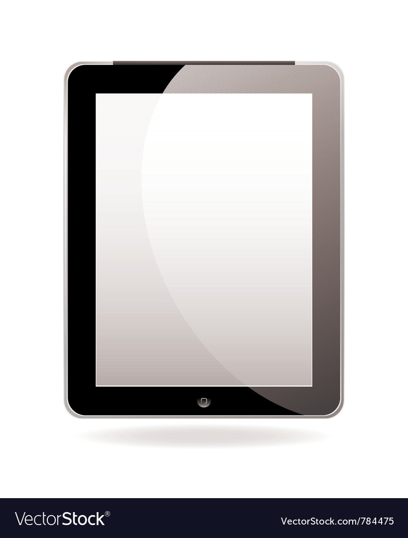 Modern hand held computer tablet vector | Price: 3 Credit (USD $3)