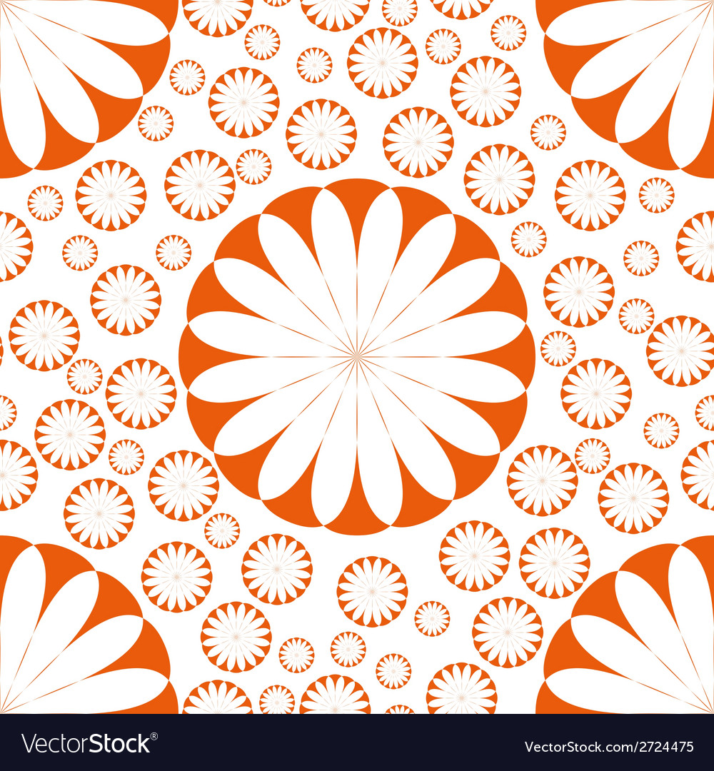Orange flower seamless pattern vector | Price: 1 Credit (USD $1)