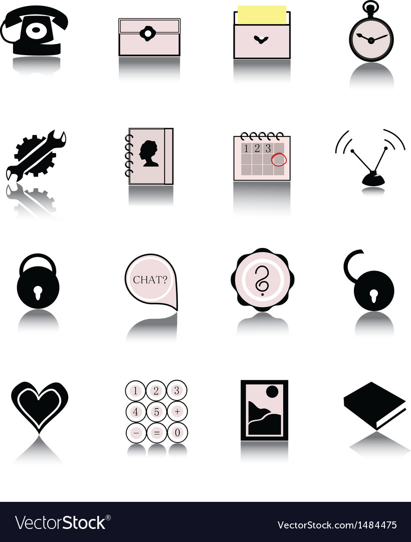 Plain icons vector | Price: 1 Credit (USD $1)