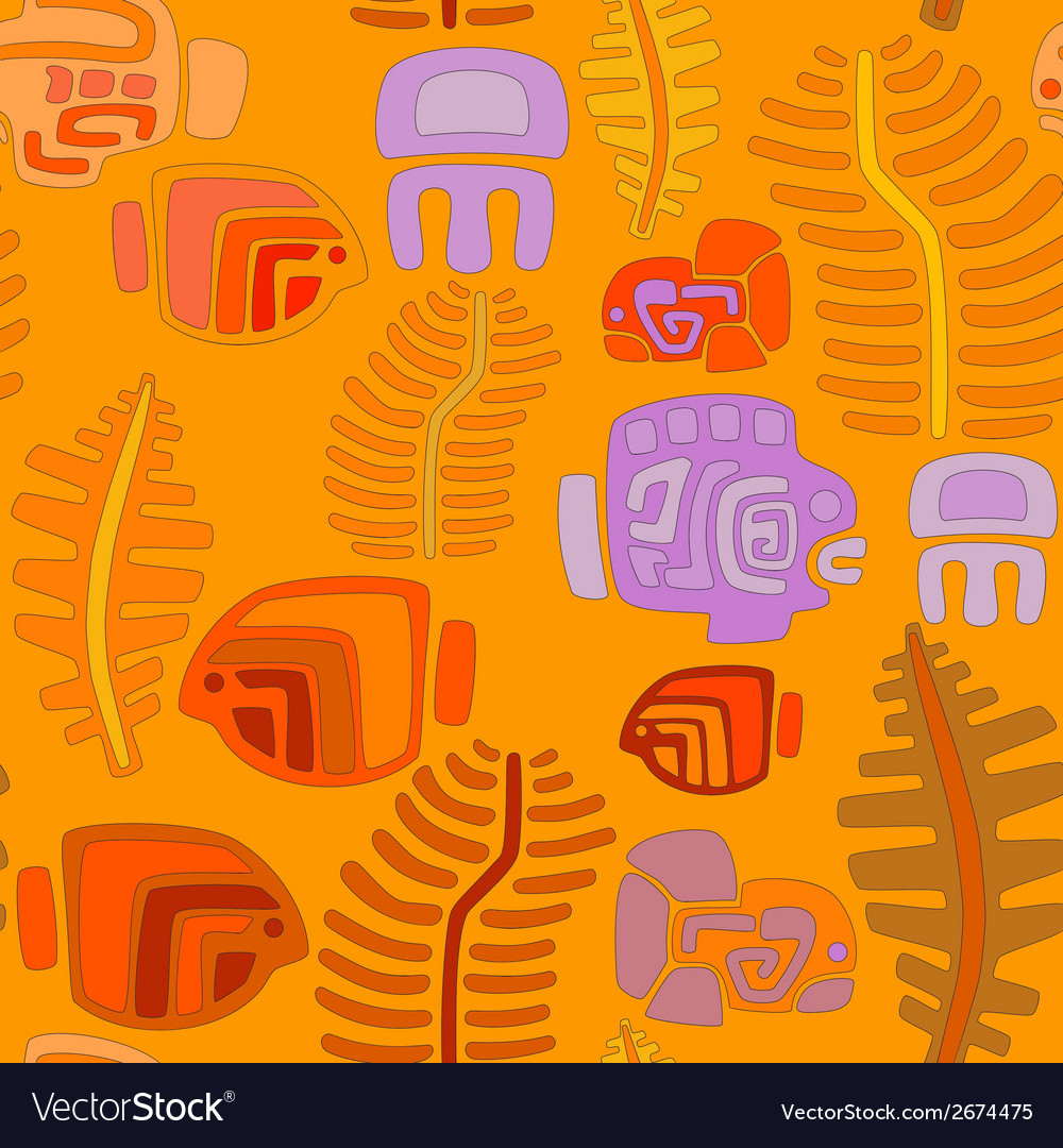 Seamless tribal pattern with aquatic animals vector   Price: 1 Credit (USD $1)