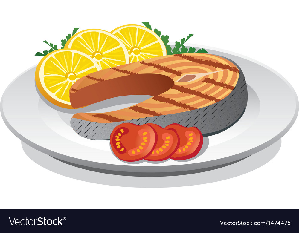 Steak salmon vector | Price: 1 Credit (USD $1)