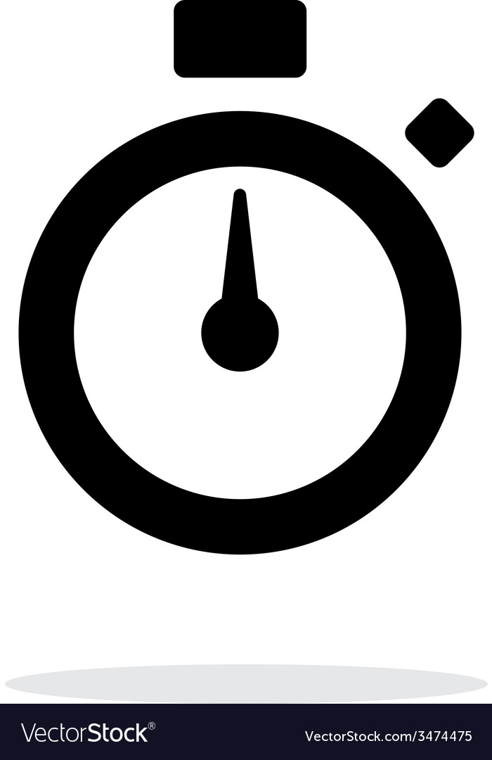 Stopwatch icon on white background vector | Price: 1 Credit (USD $1)