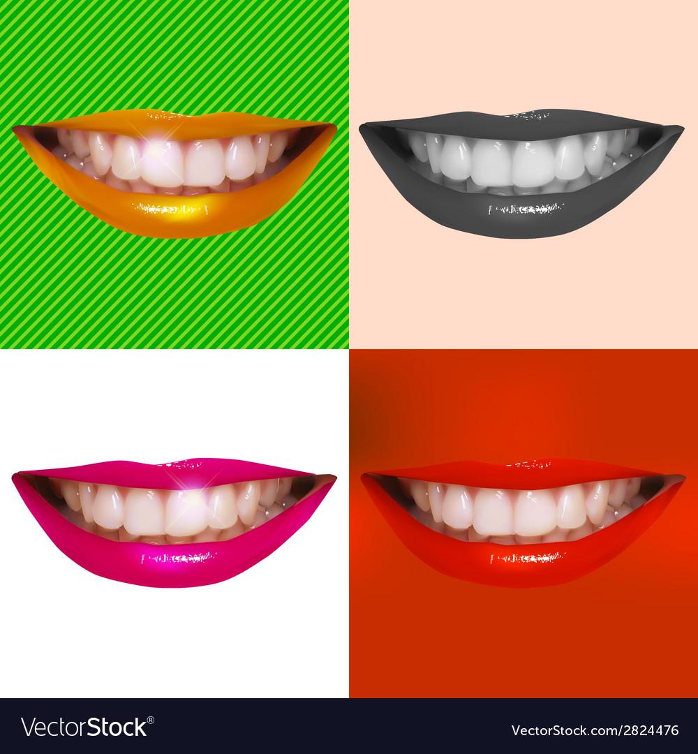 Beautiful smiling vector | Price: 1 Credit (USD $1)