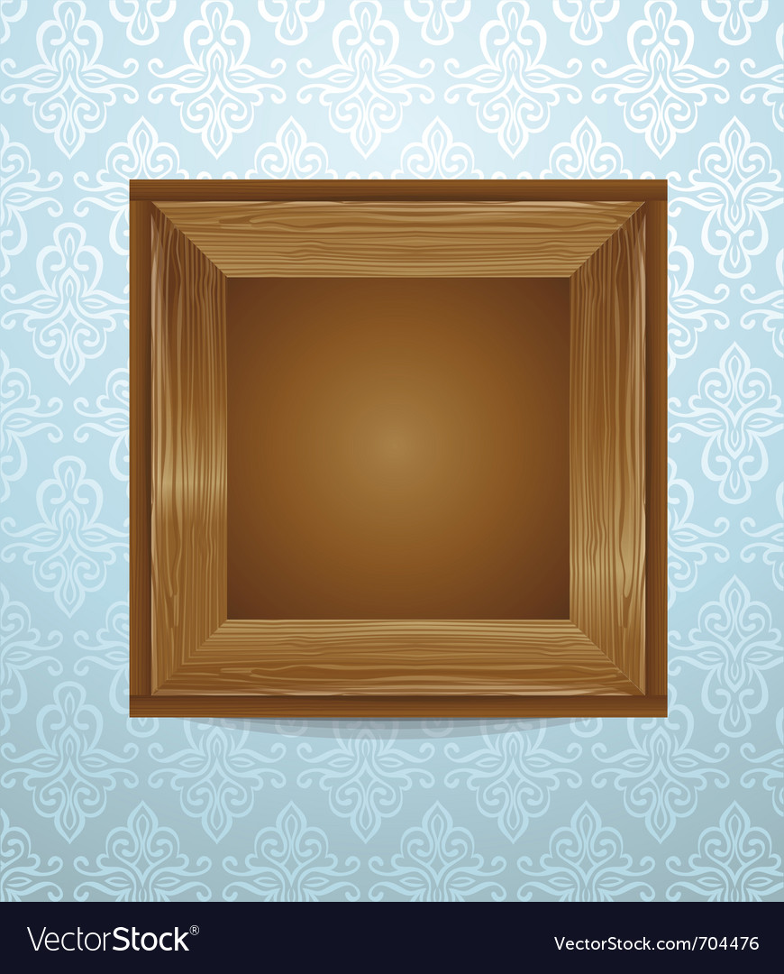 Beautiful wooden frame vector | Price: 1 Credit (USD $1)