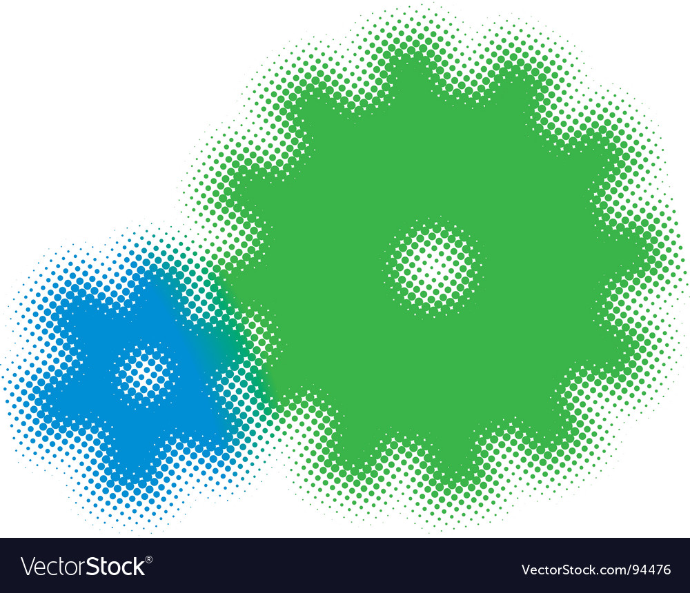 Half tone cogs vector | Price: 1 Credit (USD $1)