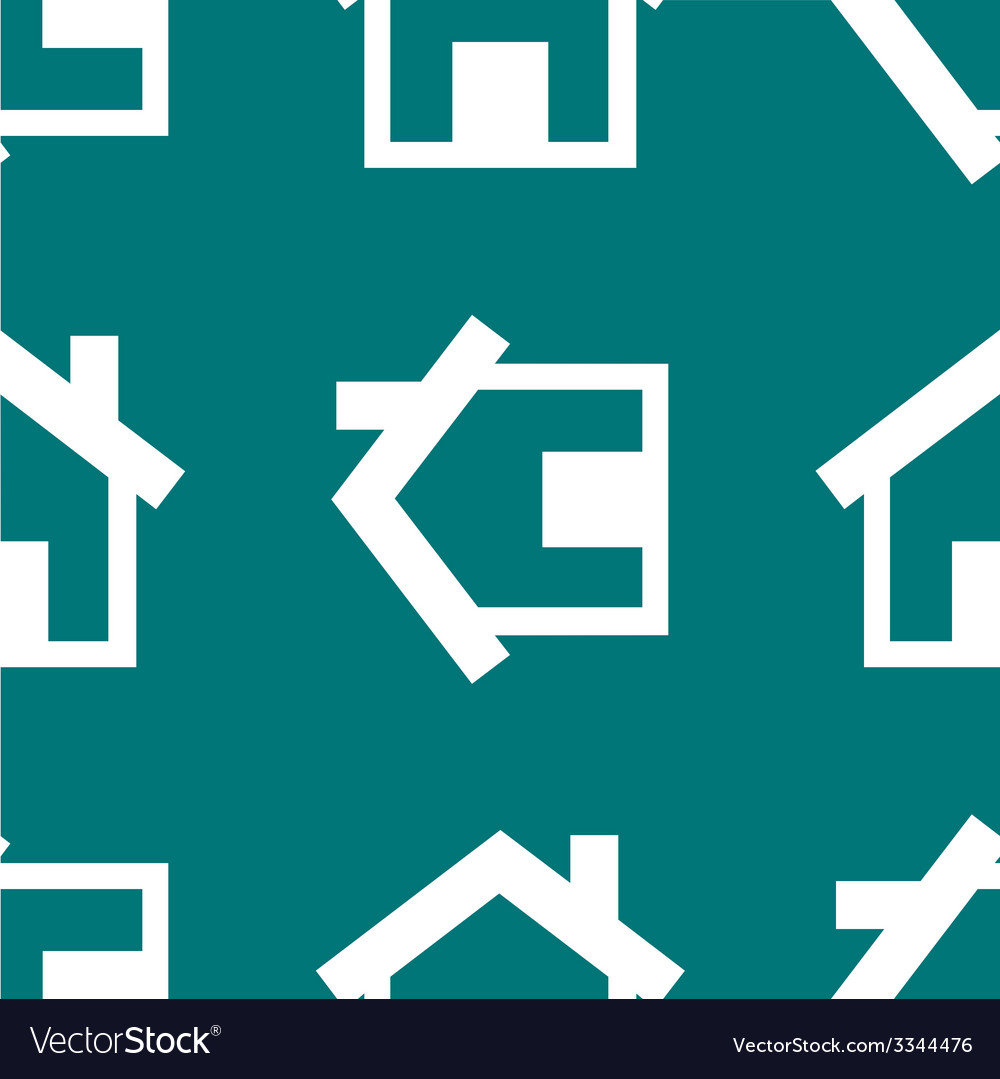 House web icon flat design seamless pattern vector   Price: 1 Credit (USD $1)