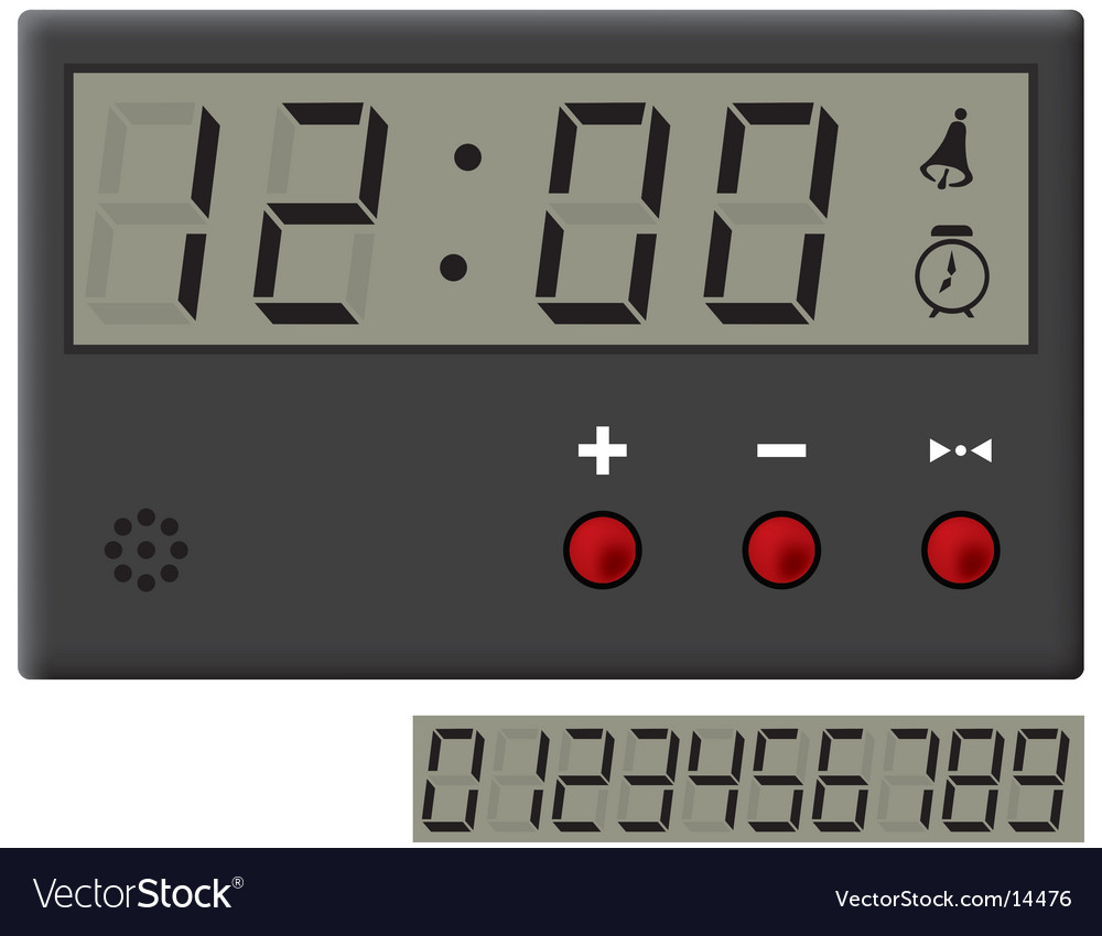 Liquid-crystal clock vector | Price: 1 Credit (USD $1)