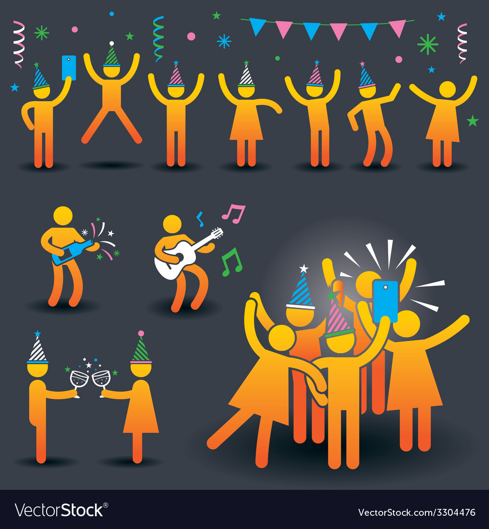 People party symbols vector | Price: 1 Credit (USD $1)