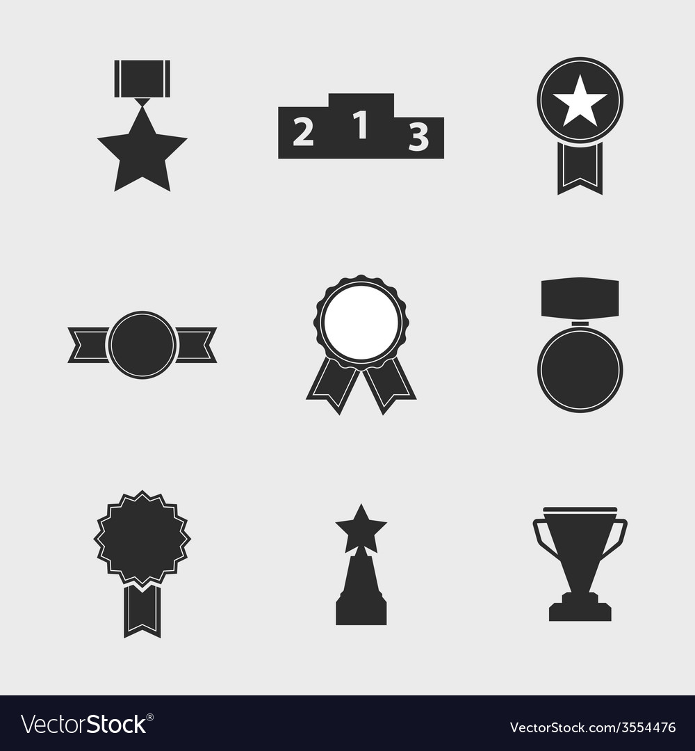 Set of icons of different awards vector | Price: 1 Credit (USD $1)