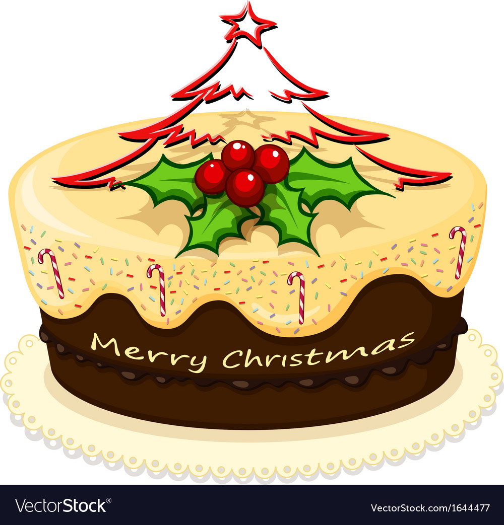 A delicious cake for christmas vector | Price: 1 Credit (USD $1)