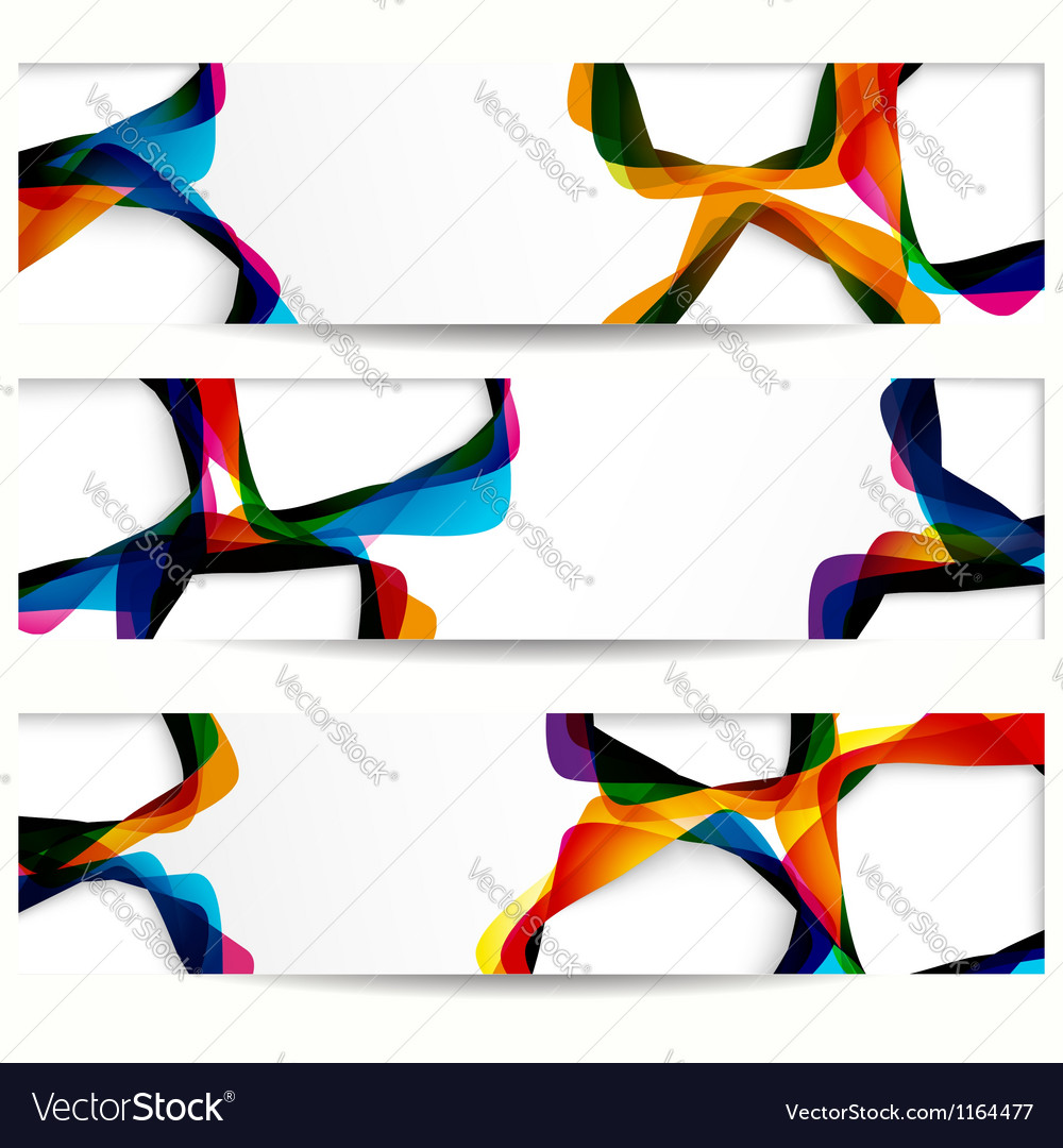 Abstract colorful banners vector   Price: 1 Credit (USD $1)